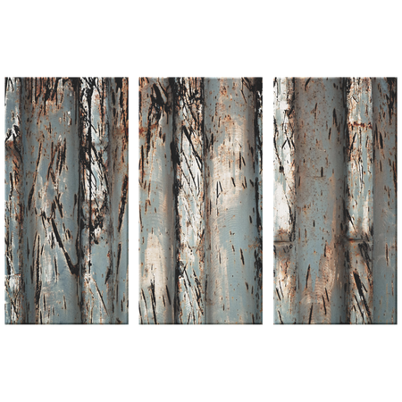 Blue Green Leaf Texture Triptych Gorgeous 3 Panel Canvas Wall Art, 3 Sizes, Living Room, Bathroom, Bedroom, Family Room, Den, Office