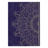 Midnight Blue Gold Mandala Designer Hardcover Journal in 2 Sizes - Mind Body Spirit