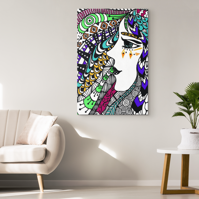 Boho Spirited Soul Designer Canvas Wall Art - Mind Body Spirit