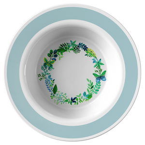 Butterfly Wreath Watercolor Designer Bowl 8.5 inch