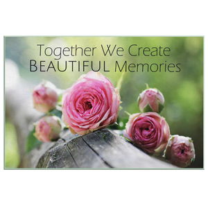 Together We Create Beautiful Memories Canvas Wall Art in 5 Sizes
