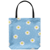 Daisy's and Dots Custom Designed Tote Bag 18 x 18 - Mind Body Spirit