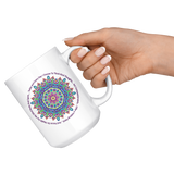 Today and Every Day Mandala Mantra Large 15 oz Mug - Mind Body Spirit