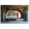 Ancient Arches with Monks Canvas Wall Art in 5 Sizes - Mind Body Spirit