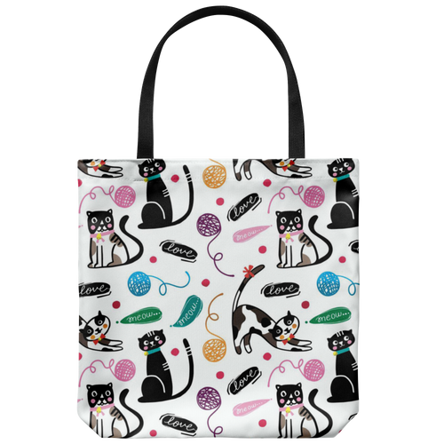 Kitty Love Custom Design Tote Bag 18 x 18 - Mind Body Spirit