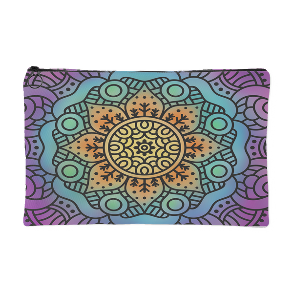 'Hesper' Mandala Floral Custom Design Accessory Pouch 2 Sizes - Mind Body Spirit