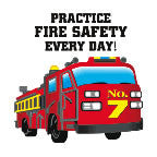 Tattoo Practice Fire Safety Every Day Fire Truck  FFD2918