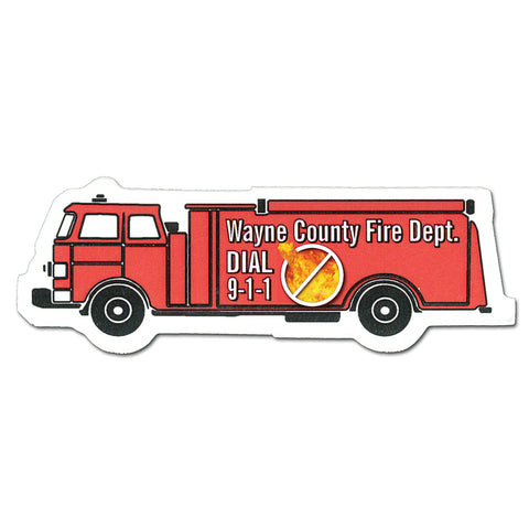 Fire Truck Magnet - Full Color Digital Stock Shaped Magnets