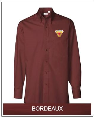 WSFIA Long Sleeve Baby Twill Shirt - Bordeaux