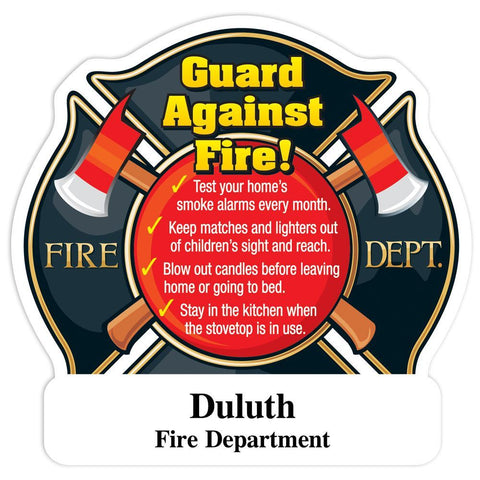 Guard Against Fire! Maltese Cross Shaped Magnet With Tips  FM-255