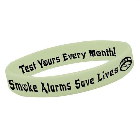 Bracelet-Glow-in-the-Dark-Smoke Alarms Theme  Pack of 25 GN-8342E