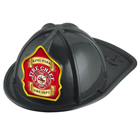 Jr. Fire Chief Helmet-Custom-Fire Chief Shield<br>HM-202 Red<br>HM-201 Black<br>HM-203  Pink