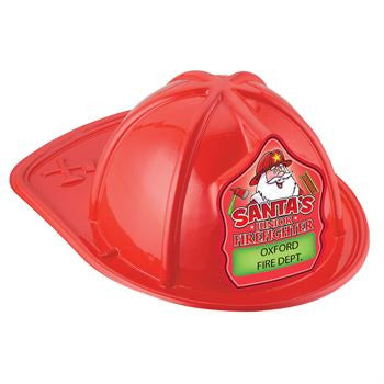 Jr Firefighter Helmet, Red, Santa Shield Design HM-205