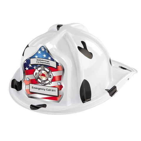 Jr. Dalmatian Helmet -Patriotic - Custom Imprint on Shield