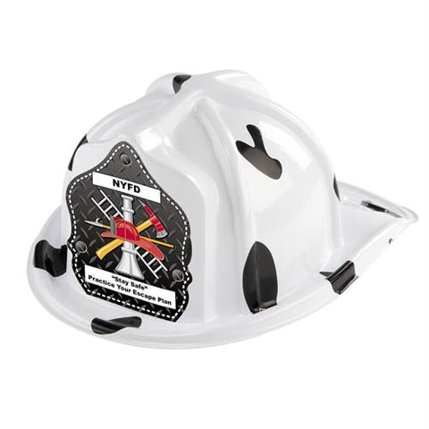 Jr. Dalmatian Helmet - Axe, Ladder, Misc. Shields- Custom Imprint on Shield