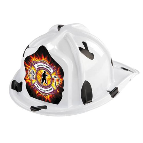 Jr. Dalmatian Helmet - Maltese designs- Custom Imprint on Shield