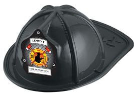 Jr. Firefighter Helmet Fireman and Axe Shield- Custom <br>HM-84 Red<br>HM-85 Black<br>HM-108 Pink