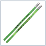 "20 Green Pencils:    ""EMS Your Life * Our Mission"""