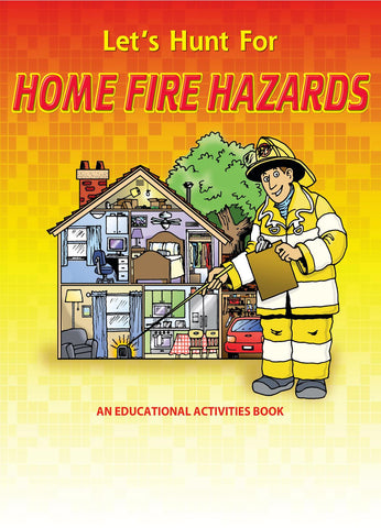 Coloring/Activity Book Hunt for Home Fire Hazards <b>Grades 5-6<br>KCB-382
