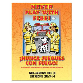 Coloring/Activity Book Never Play with Fire - Bilingual - Grades 1-2  KCB-552