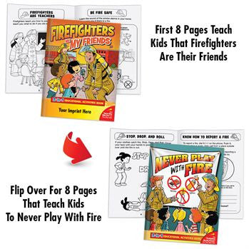 Coloring/Activity Book Firefighters Are Friends/Never Plan with Fire Flip Book Grades 1-2<br>KCB-653