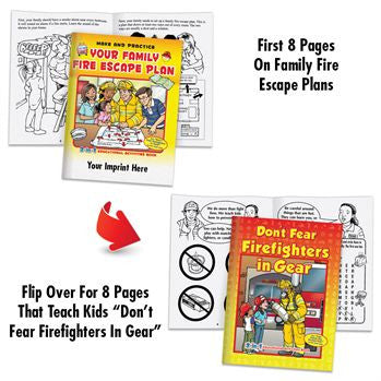 Coloring/Activity Book Family Fire Escape/Don't Fear Firefighters Flip Book<br>KCB-654