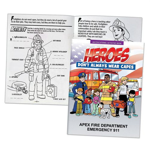 Coloring/Activity Book Heroes Don't Always Wear Capes <b>Grades 1-2<br>KCB-663