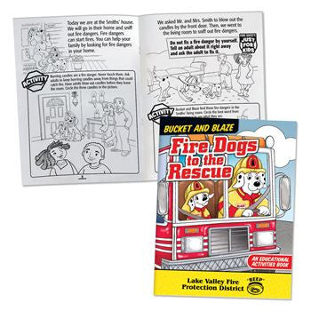 Coloring/Activity Book Fire Dogs to the Rescue <b>Grades 1-2<br>KCB-672 NEW!