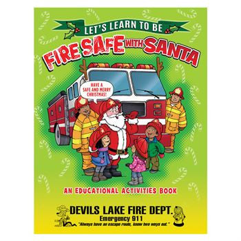Activity Book-Coloring Book Learn to be Fire Safe with Santa, 16 pages, Grades 1-2