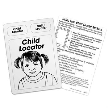 Stickers, Child Locator Reflective Stickers, Pack of 100  -KHS-124P