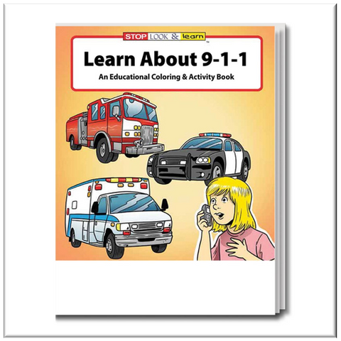 Learn About 911 Coloring & Activity Book #0200
