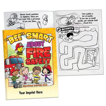 Coloring/Activity Book BEE Smart About Fire Safety  <b>Grades Pre K-K<br>PCB-66