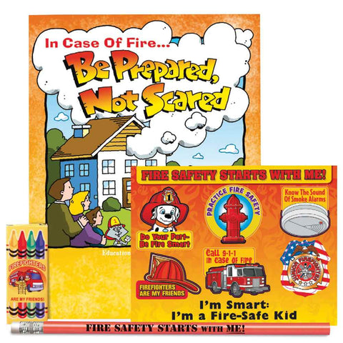 In Case Of Fire Be Prepared, Not Scared Grades 2-3 Fire Safety Educational Activity Pack SK-2648 value kit