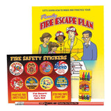 Family Fire Escape Plan Grades 3-4 Fire Safety Educational Activity Pack  SK-2649