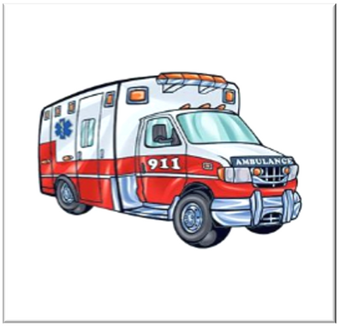 Ambulance Temporary Tattoo