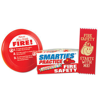 Mini Flyer with Safety Self Stick Ribbon and 3 rolls Smarties candies pre-packaged in plastic bag
