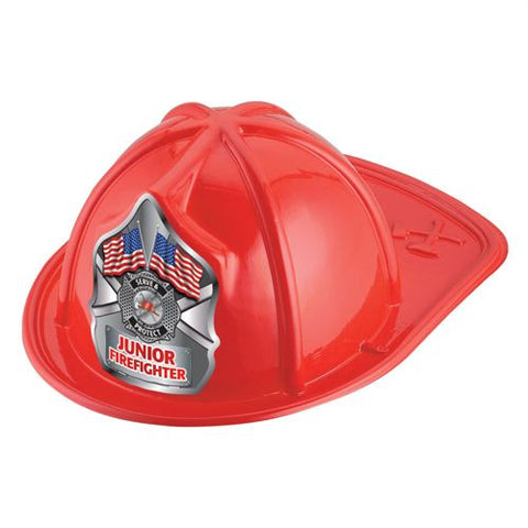Jr. Firefighter Helmet -  Serve Protect Flags Design <br>VP-5710 Red <br> VP-5711 Black