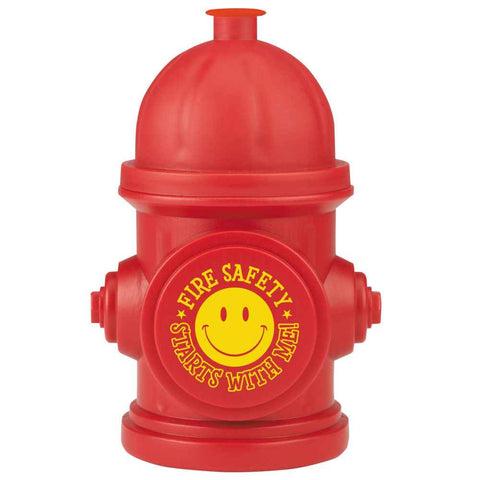 Water Bottle Fire Safety Starts with Me Hydrant Shape  - WB-945F
