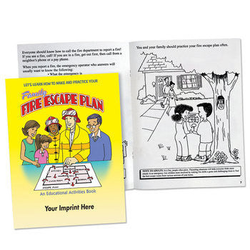 Coloring/Activity Book Family Fire Escape  <b>Grades 3-4<br>KCB-352