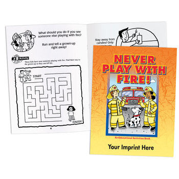 Coloring/Activity Book Never Play with Fire <b>Grades 1-2  KCB-551