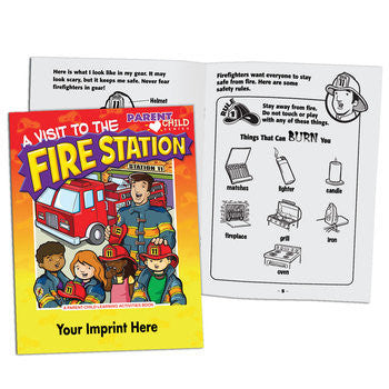 Coloring/Activity Book A Visit to the Fire Station <b>Grades Pre K-K   PCB-53