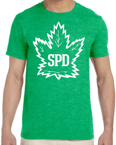 Maple Leaf - Green/White