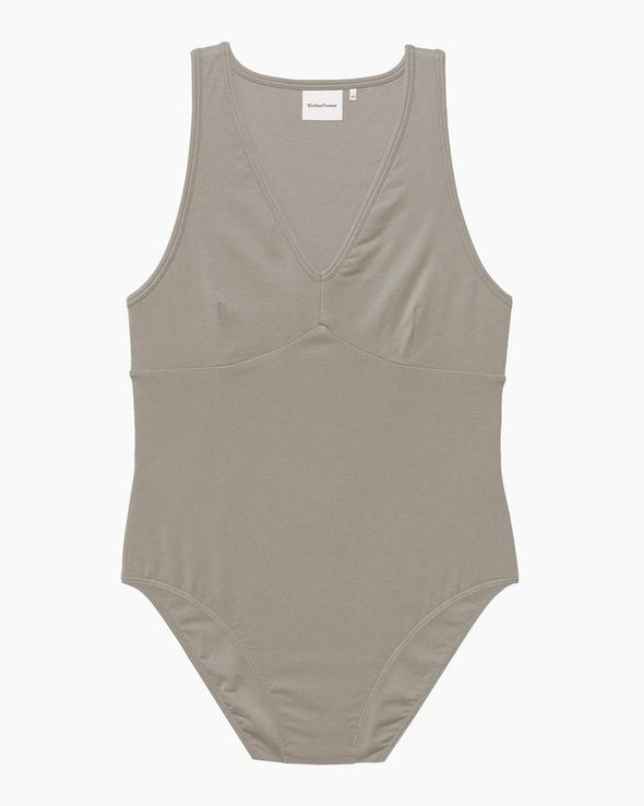 RICHER POORER WOMEN'S BODYSUIT - WARM GREY