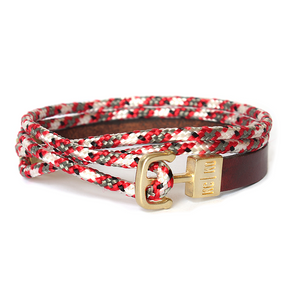 KC|KO  DOUBLE WRAP BRACELET- RED CAMO