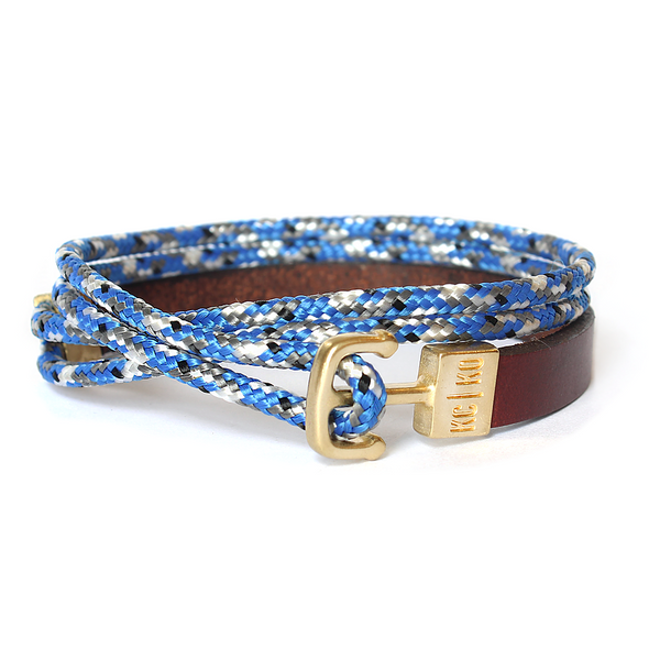 KC|KO  DOUBLE WRAP BRACELET- BLUE CAMO