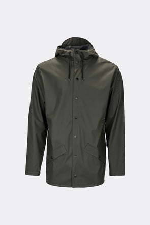 RAINS UNISEX JACKET- GREEN