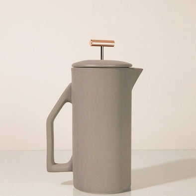 YIELD CERAMIC FRENCH PRESS - GRAY
