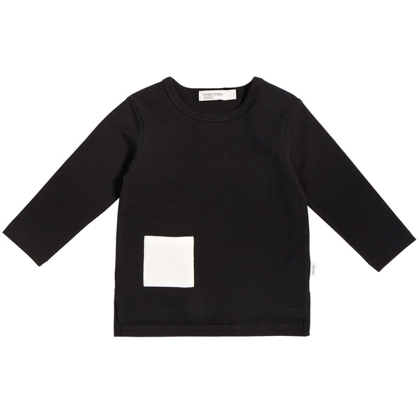 MILES KIDS LONG SLEEVE T-SHIRT - BLACK