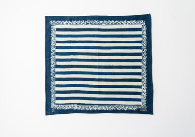 MUUR POCKET SQUARE- INDIGO STRIPE