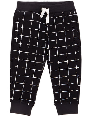 MILES BABY GRID JOGGER- BLACK